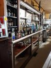 "Back bar- 16 "" d x 7 ' H Ч 12' w- needs removed- contents NOT included"