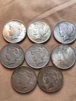 8 1922 silver peace dollars