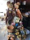 Lot of various thanksgiving and Halloween decorations