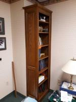 Jasper Desk company bookshelf solid oak - finished on both sides - contents not included Approx. 14 in deep X 89 inches high X 26 in wide