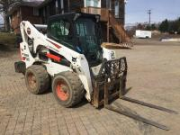 2018 Bobcat S770 - 2 speed - PIN: AT5A12664 - 486 hours - rear weights - comes with bucket - no forks *being reserved for load out, buyer will collect after removal ends*