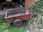Pull along utility cart with brakes - bed is 28.5 in x 42 in x 12 in