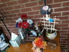 Lot of miscellaneous decor - includes candle holders, napkin holder, wall sconce, letter opener Etc.