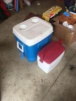 Igloo cooler and Coleman smaller cooler