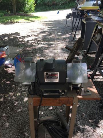 Strange Craftsman 1 3 Hp Bench Grinder 6X 3 4 Wheels Beatyapartments Chair Design Images Beatyapartmentscom