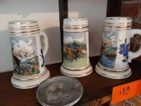 3 - beer mugs made in west Germany