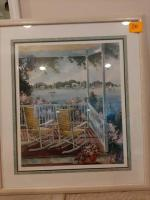 Patchell Olson framed lithograph - numbered 574/950