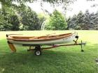 Hand made Boat - John J Steele Coraopolis PA - 4 person - 14ft x 4 1/2ft - with trailer