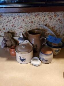 various styles of pottery