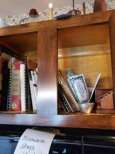 Contents of cabinets - cook books