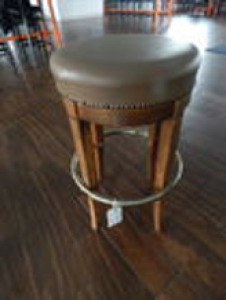 (X6) Leather Top Barstools