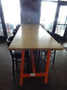 (X3) High Top Pub Tables 9'x3'x3.5'