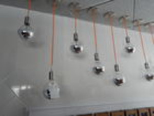 Set of 12 Modern Display Fixture (Hanging Lights)