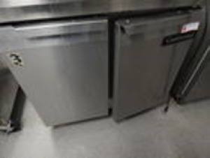 Continental Double Door Stainless Refrigerator 2.5'x3'x2'10""