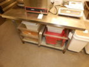 Stainless Steel Prep Table 4'x2.5'x2'10""