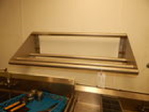 Stainless Roller Shelf with Towel Bars 3.5'x1.5'