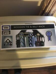 Totes wooden tie and belt rack