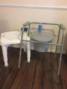 Commode and shower seat for assisted care