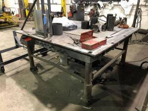 Solid Metal shop table - 72in x72in x 36in