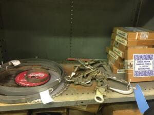 Safety harness, saw blades, grinding wheels
