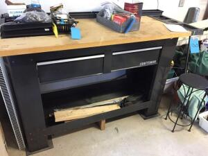 Craftsman workbench- 27 d x 37 h x 67 w - contents on top are included
