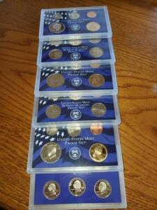 3- proof sets - 2000, 2002, 2006