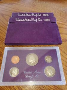 3- united states proof sets - 1985