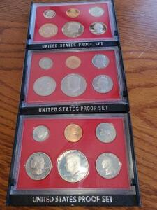 3- proof sets - 1980, 1981, 1982