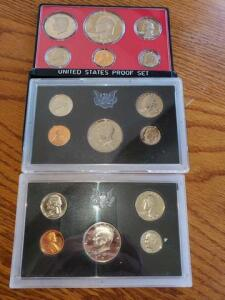 3 proof sets - 1971, 1972, 1973
