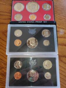 3 - United states proof set - 1971, 1972, 1973