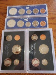 2- united states special proof sets - 1966, 1967 - 2- united states proof sets - 1983