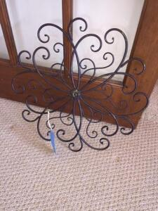 Wrought iron decorative piece- 20""