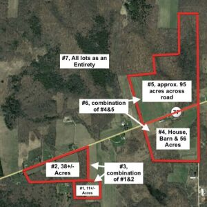 Parcel # 49-0-040442 - House, Barn and 56 +/- acres on southern side of route 77