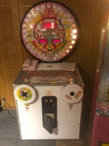 Spin for tickets arcade game