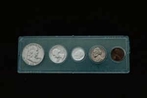 silver coin set from 1958, 1959, 1960, 1961