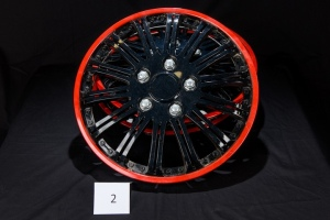 15' Weather Handler Wheel Covers Black/Red-set of 4