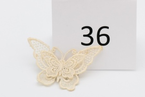 White Lace Butterfly Pin