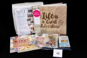 Scrapbooking Supplies - 2 Albums, 2 Books, Various Stickers