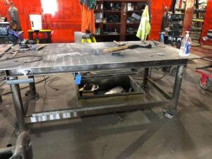 "metal work bench table (48""x36""x97"")"