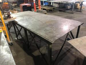 "metal work bench table (50""x34""x108"")"
