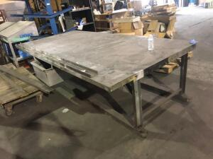 "metal work bench table (64""x35""x132"")"