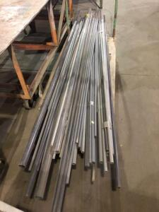 Large lot of miscellaneous piping (cart not included)