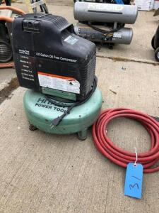 Hitachi pancake compressor - 116psi - 4 gal - 2 hp
