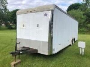 *update* 1998 24 ft US Cargo box trailer - 7000lb GVW - VIN: 4pl500l29w1014080 - rear ramp door and side door