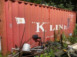 Kline shipping container 8ft x 20ft x 18ft (contents not included)