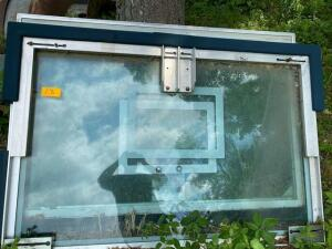 2 glass basketball backboards (hoops and poles not included)
