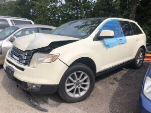 WHITE 2007 FORD EDGE