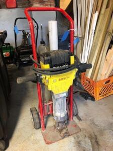 Bosch jack hammer on cart