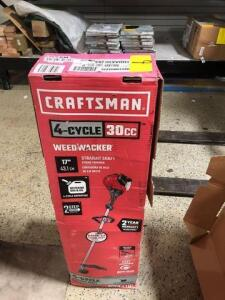 Craftsman -four cycle 30cc Weedwhacker with straight shaft
