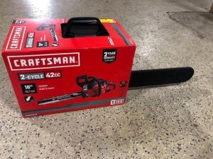 Craftsman -Two cycle- 42 cc chainsaw -18 inch blade